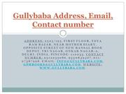 Gullybaba Address, Email, Contact number