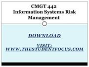 CMGT 442 Information Systems Risk Management