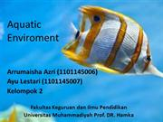 Aquatic Enviroment