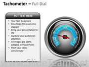 CREATE TACHOMETER FULL DIAL POWERPOINT SLIDES