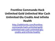 Frontline Commando Hack Unlimited Gold Unlimited War Cash Unlimited Gl