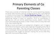 Primary Elements of Co Parenting Classes