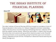 The Indian Institute of Financial Planning(IIFP)