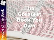 People of the Book | The Greatest Book