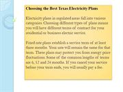 Choosing the Best Texas Electricity Plans