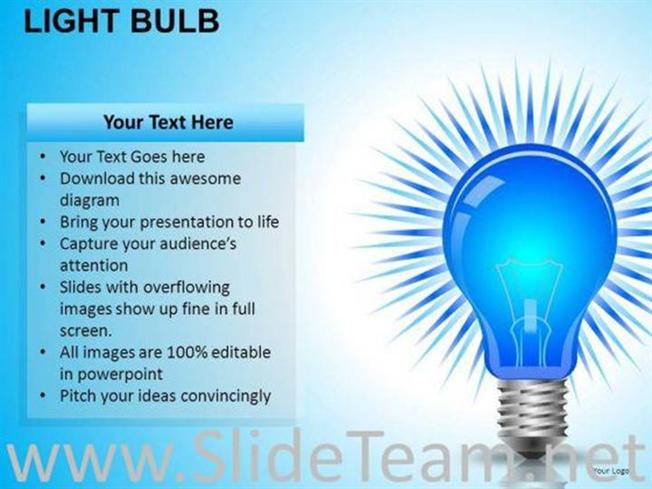 invention light bulb powerpoint slides-powerpoint diagram, Powerpoint templates