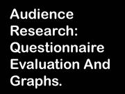 Audience questionnaire analysis