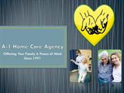 Become a Caregiver with A-1 Home Care