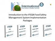 Introduction to IFSQN Food Safety Management System Implementation Pac