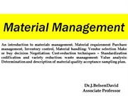 Material management DRA