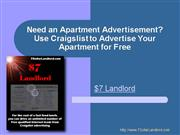 Need an Apartment Advertisement Use Crai