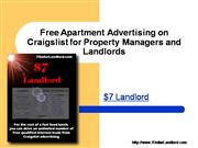 Free Apartment Advertising on Craigslist