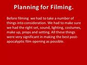 Planning for Film opening Powerpoint.