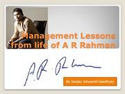 Management Lessons from A R Rahman
