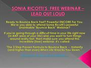 SONIA RICOTTI'S  FREE WEBINAR – LEAD OUT LOUD
