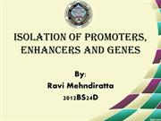 Isolation of promoters enhancers and genes