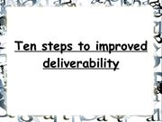 steps to improved deliverability