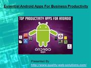 Essential Android Apps For Business Productivity