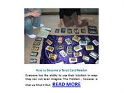 How to Become a Tarot Card Reader