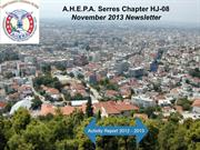 AHEPA Serres November 2013 Newsletter
