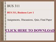 BUS 311, Business Law 1