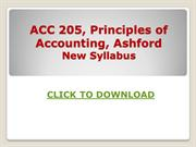 ACC 205 Week 1 to 5, Principles of Accounting Ashford