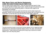 Marine Engine Spare Parts for Sale / used reconditioned