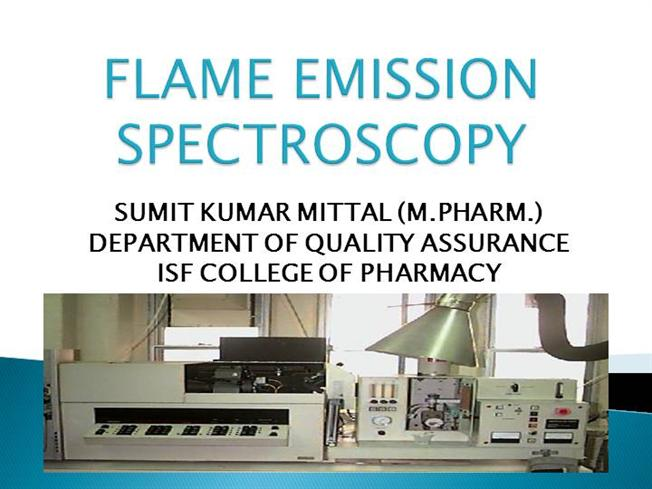 instrumentation of flame spectroscopy