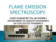 FLAME SPECTROSCOPY