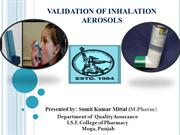 VALIDATION OF INHALATION AEROSOLS