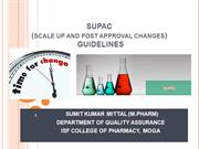SUPAC GUIDELINES