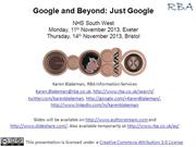Google and Beyond: Just Google