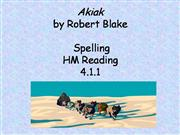 Akiak: Spelling