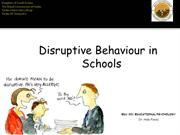 Distruptive Behaviour