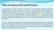 How to choose ID Card Printers