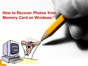 How to Recover Photos from Memory Card on Windows