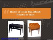 Review of Grand Piano Bench Models and Styles