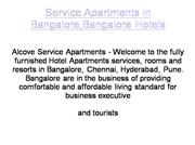 Alcove Hotels in Service apartments.