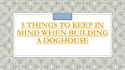 5 Things To Keep In Mind When Building