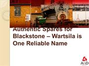 Authentic Spares for Blackstone – Wartsila is One Reliable Name