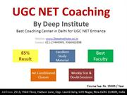 UGC NET Entrance Exam Coaching in Delhi