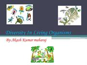 Diversity in living organism by-akash