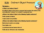 Indirect Object Pronouns (IOP)