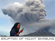 Eruption of Mount Sinabung - Indonesia