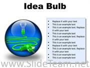 IDEA BULB BUSINESS POWERPOINT PRESENTATION SLIDES C