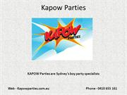 KAPOW Parties are Sydney's boy party specialists