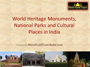 World Heritage Sites in India - Monuments and National Parks