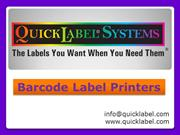 Quicklabel System - Barcode Label Printers