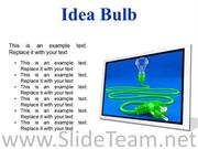 IDEA BULB BUSINESS POWERPOINT PRESENTATION SLIDES F