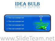 IDEA BULB BUSINESS POWERPOINT PRESENTATION SLIDES R